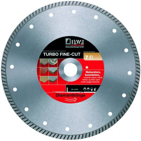 Disc diamantat Turbo Fine cut 115mm - Premium