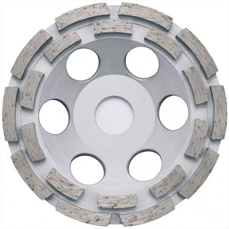 Platou de slefuit cu diamant - pe doua randuri - beton, materiale de constructii