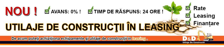 Leasing utilaje de constructii